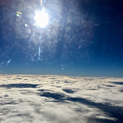 Clouds, flying