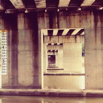 Bridge, flooding, Cyclone debbie