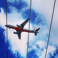 Plane, flying