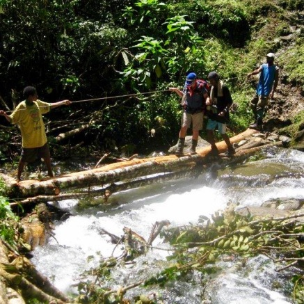 A bridge crossing on Kokoda Track
