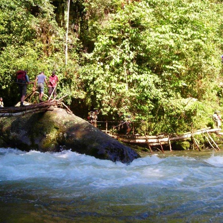 Another creek crossing along the Kokoda Track