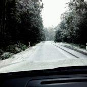 The drive through snow