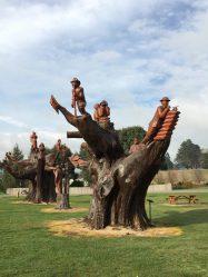 Carved trees at Ledgerwood,Tasmania