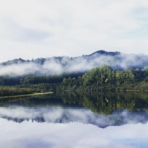 Reflections on the Gordon River in Tasmania