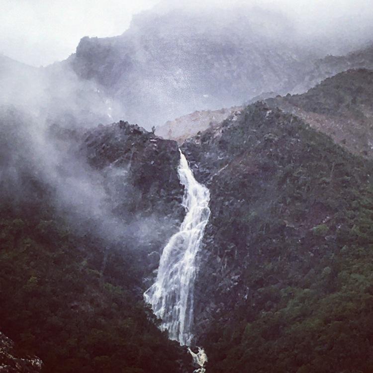 Waterfall at Queenstown, Tasmania