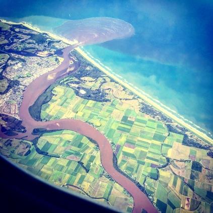 Ballina from the plane window