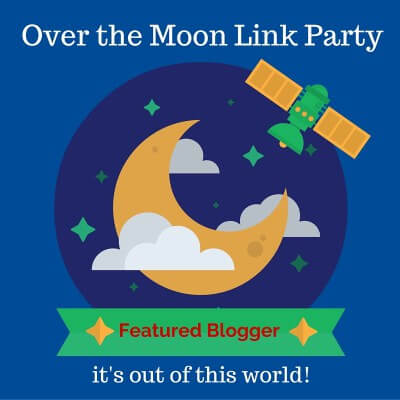 Featured blogger, Over the Moon Link Party, Blogging, Bloggers
