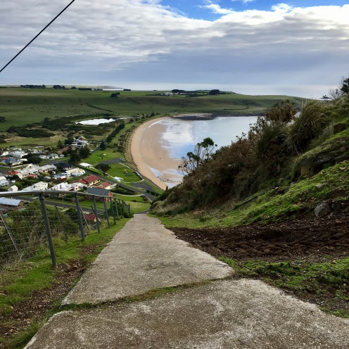 The Nut at Stanley Tasmania had an almost vertical path