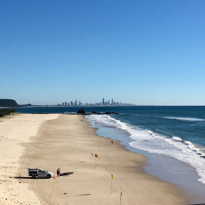 Looking towards the Gold Coast