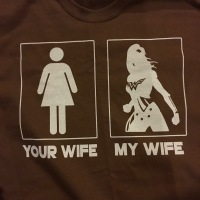Your wife, my wife toshirt for my husband features wonder Woman