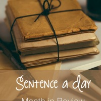 A sentence a day for June: a writing challenge