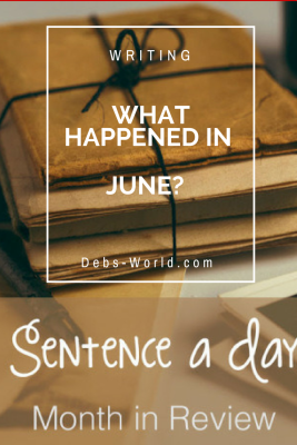 A Sentence a day for June writing challenge
