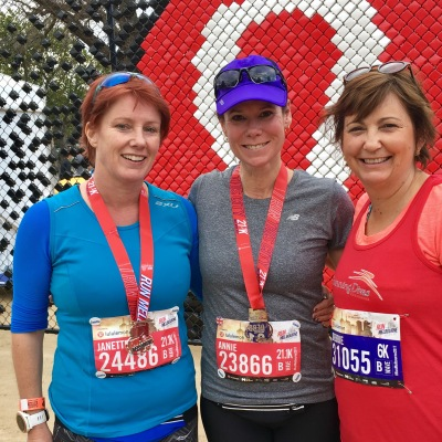 Meeting up with Annie and Janette at Run Melbourne 2017