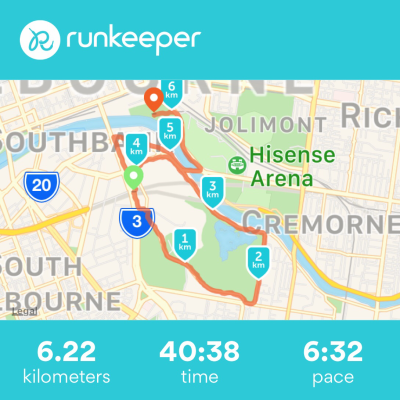 Run Melbourne 2017 map and times