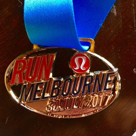 The medal from Run Melbourne 2017