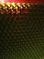 up close in a wine cellar