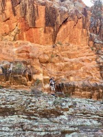 Red cliffs on the Frome River South Australia