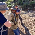Chatting to Sharpie our guide, in the Flinders Ranges