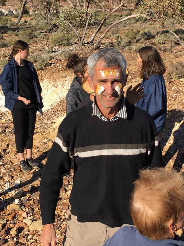 Painted face in the Flinders Ranges