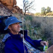 Morning tea break along the Frome River in the Flinders Ranges