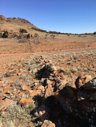 Stone wall in Flinders Ranges