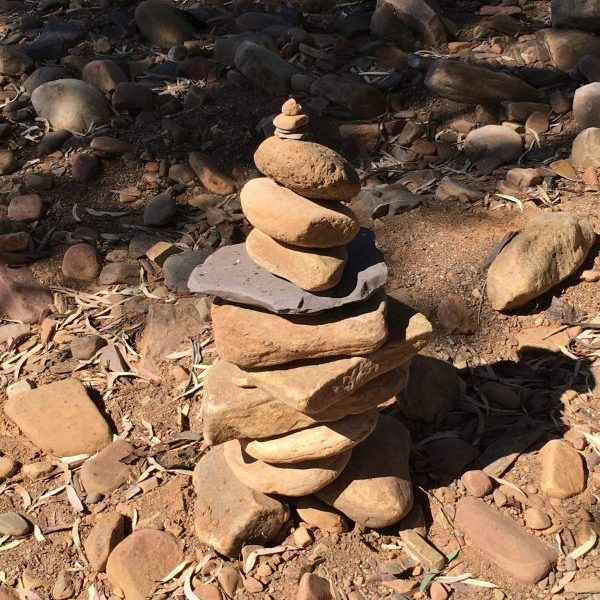 Rock stack in the Flinders Ranges