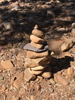 Rock stack in the Flinders Ranges