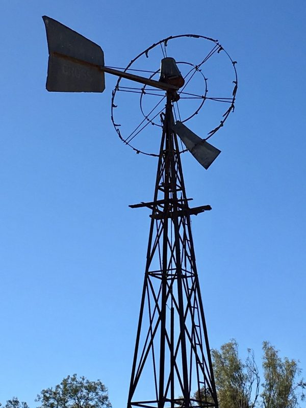 Windmill in the outback in the Flinders Ranges