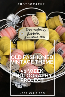 Old fashioned or vintage theme on 52 week photography project