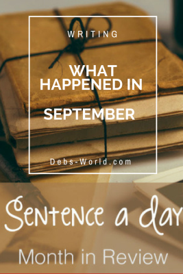 A sentence a day for September on my blog