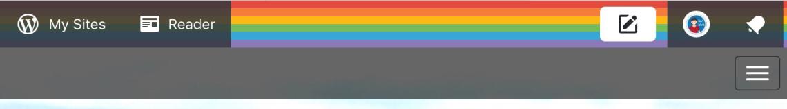 WordPress rainbow ribbon