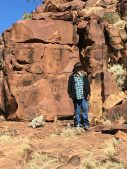 Cliff with rock engravings