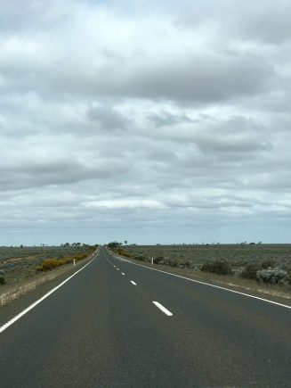 The open road is straight in Outback Australia