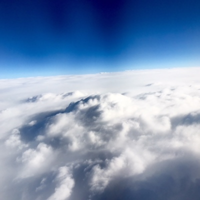 Clouds while flying