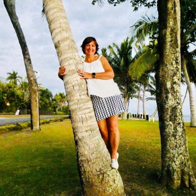 Debbie's happy place in Fiji