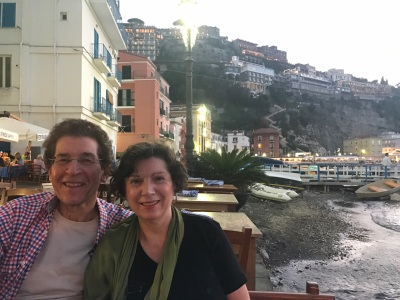 Sam and Louise in Sorrento Italy
