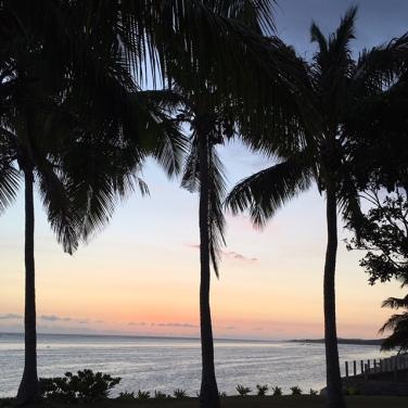 Sun is down in Fiji 6.11pm