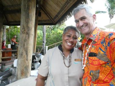 Happy smiles at Outrigger Resort Fiji