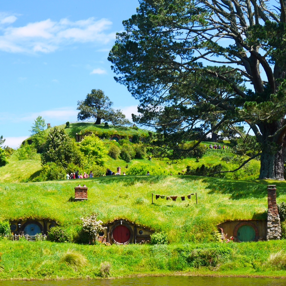 Wordless Wednesday: Hobbit Holes at Hobbiton