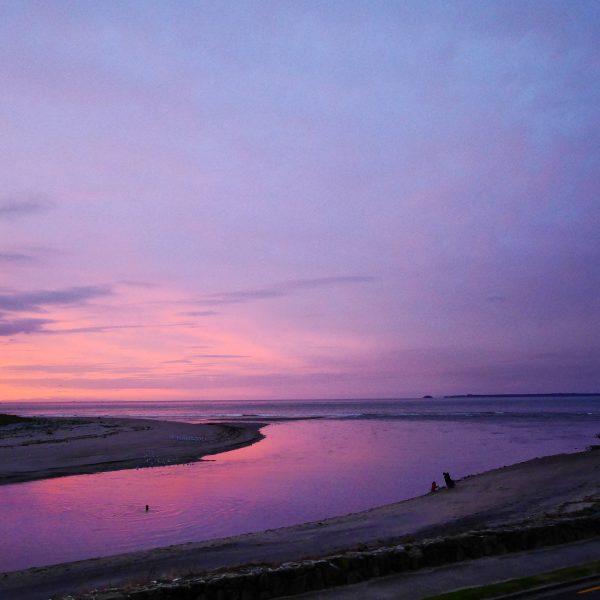 Sunset at Maketu, New Zealand