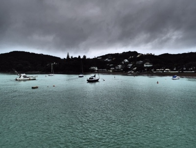 Moody skies at Russell, New Zealand