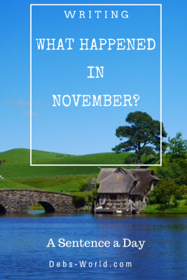 A Sentence a Day for November, a guide to 3 weeks travelling in New Zealand