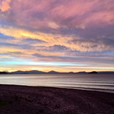 Sunset over Lake Taupo New Zealand