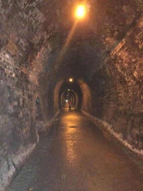 1100mt tunnel on Hauraki Rail Trail