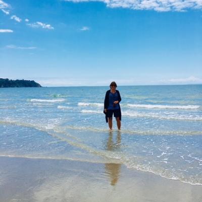 On the beach at Waiheke Island, New Zealand