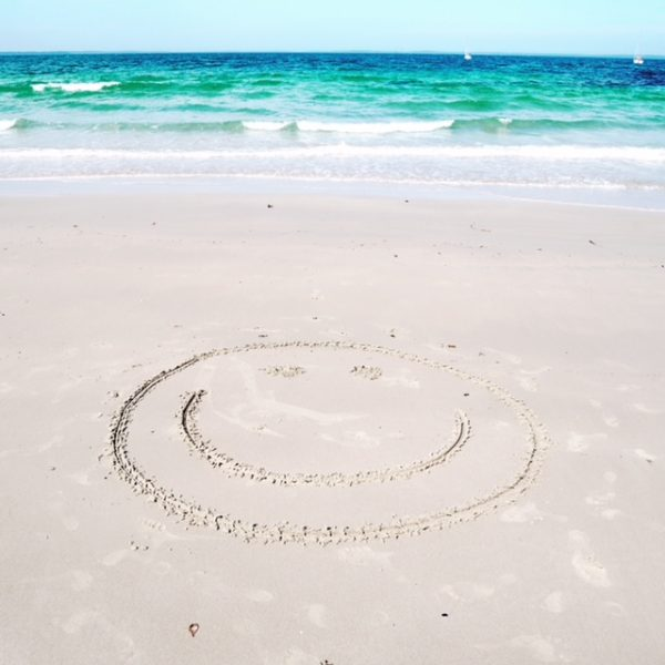 beach smiley face at Vincentia