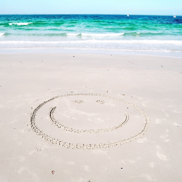beach smiley face