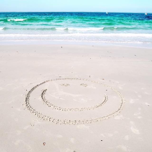 beach smiley face
