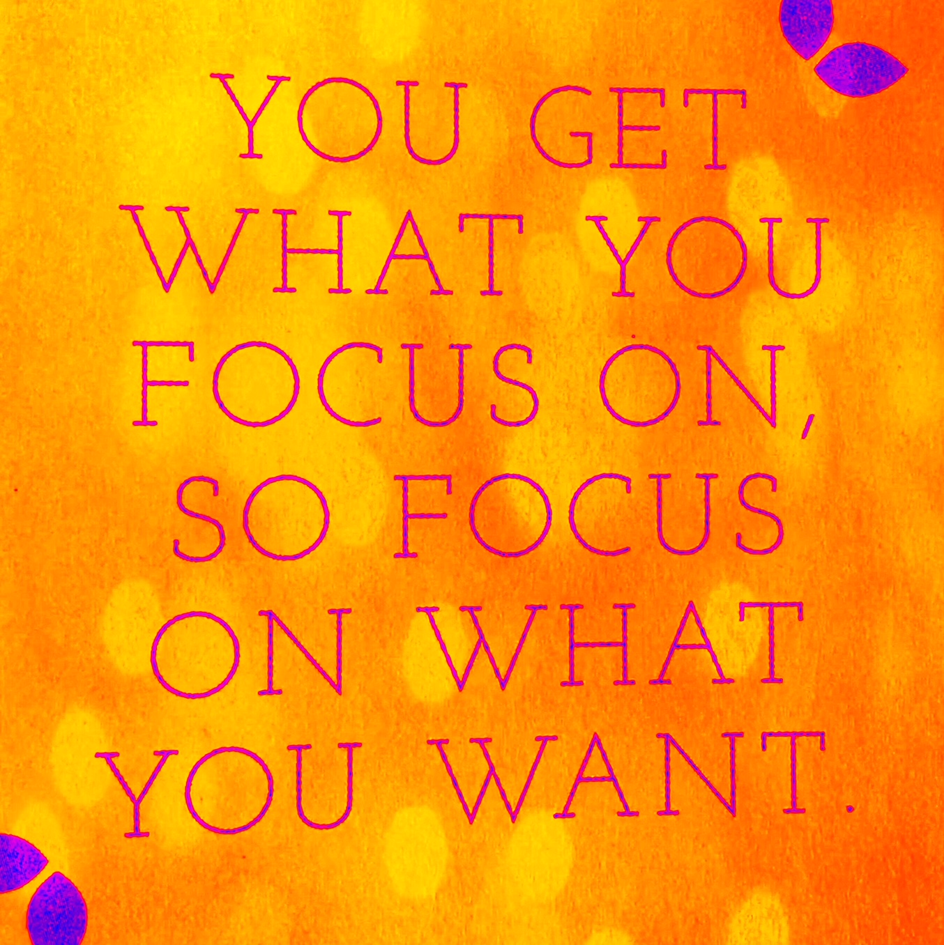 Focus is my word for 2018