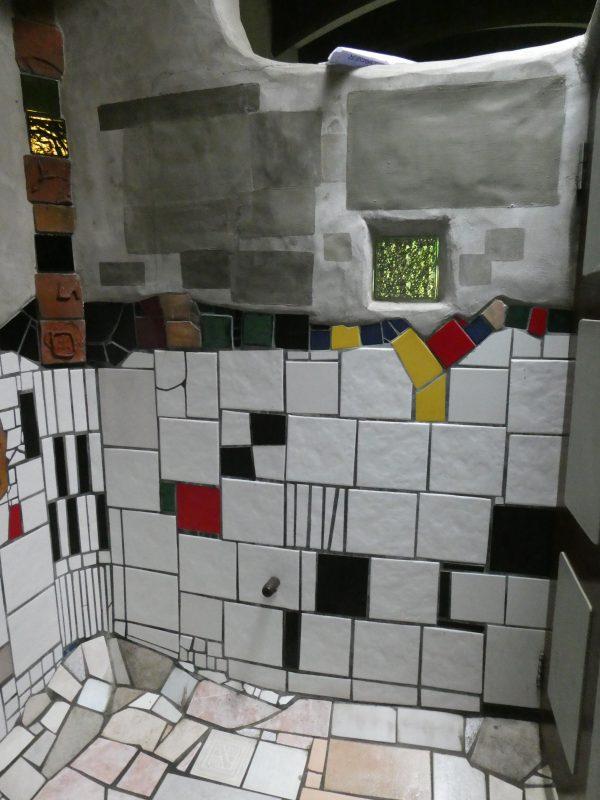 Hundertwasser toilet block in Kawakawa New Zealand